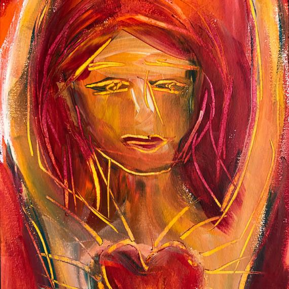 woman w heart 1